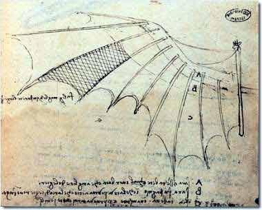 Leonardo da vinci invention the flying machine