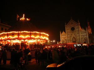 Piazza Santa Croce Firenze - Mercatino di Natale