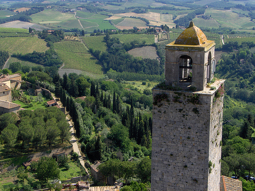 torre san gimignano campagna toscana