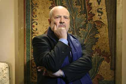 Cardini Franco, storico, mani, mosaico, sciarpa © 2007 Giliola CHISTE'