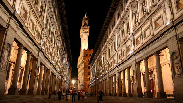 The Uffizi Gallery in Florence.